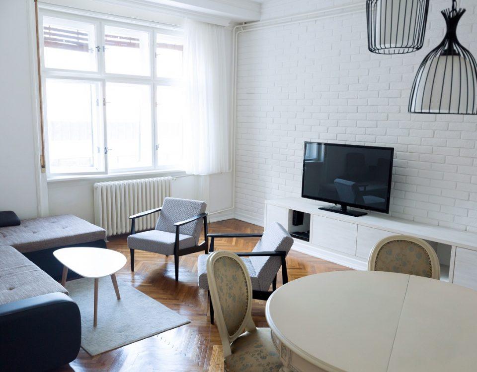 mobilier blanc pour télévision